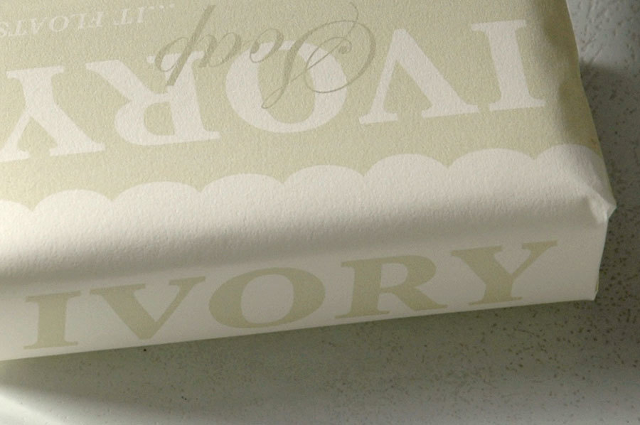 Ivory soap redesign for Leticia Kleinberg's Typography II class