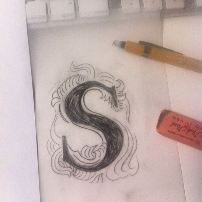 Liz Gill Neilson sketch for SHREW logo