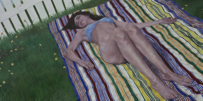 Nick Ward | Christine #3 | 72 x 36 inches | oil on board