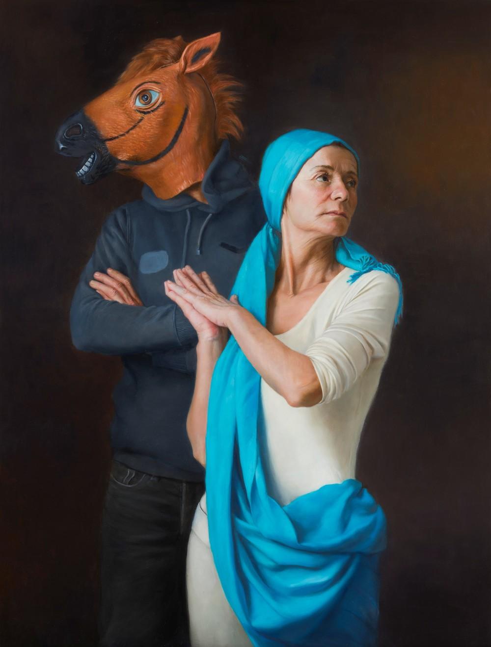 Natalie Holland | Kassandra | oil on dibond |80 x 60 cm or 31 ½ x 23 ½ inches