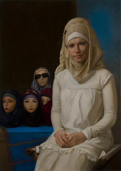 Natalie Holland | Annunciation | oil on canvas |50 x 70 cm