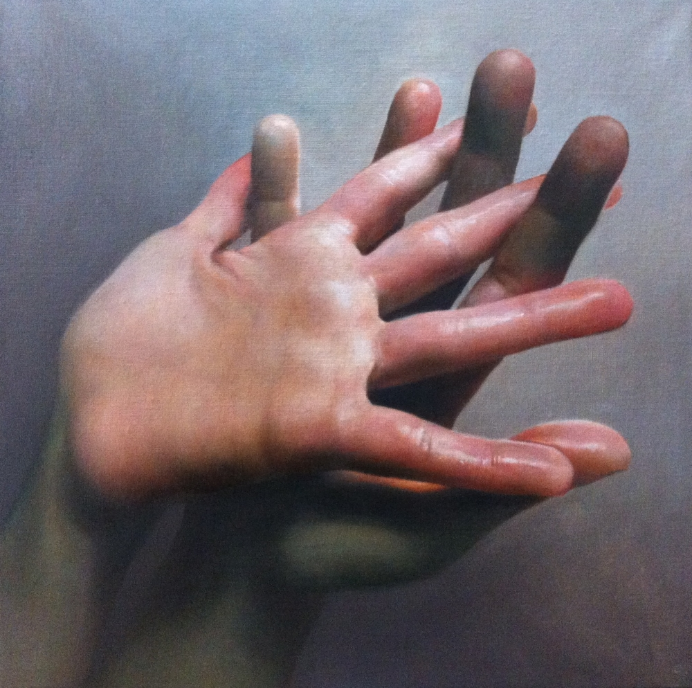 Caroline Westerhout  |  Lovers  |  Oil on Canvas  |  60 x 60 cm or 23 ½ x 23 ½ inches