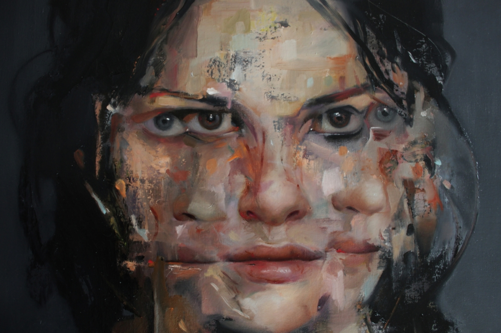 Caroline Westerhout  |  Elastic (detail)  |  Oil on Canvas  |  100 x 40 cm or 39 ½ x 15 ¾ inche