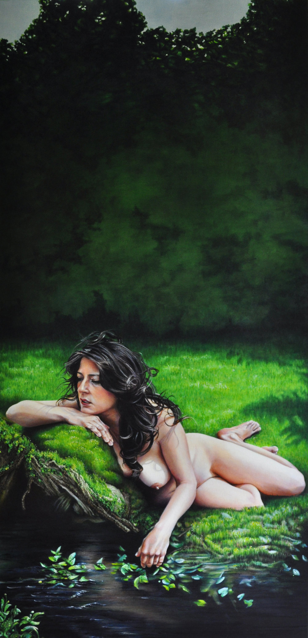 Victoria Selbach  |  Carmen in Pierreandorskatz  |  Acrylic on Canvas  |  70 x 34 inches or 177 ¾ x 86 ¼ cm