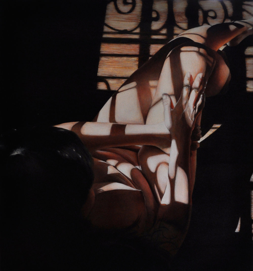 Victoria Selbach  |  Mary 1  [Mary as Muse Series]  |  Acrylic on Canvas  |  32 x 30 inches or 81 ¼ x 76 cm