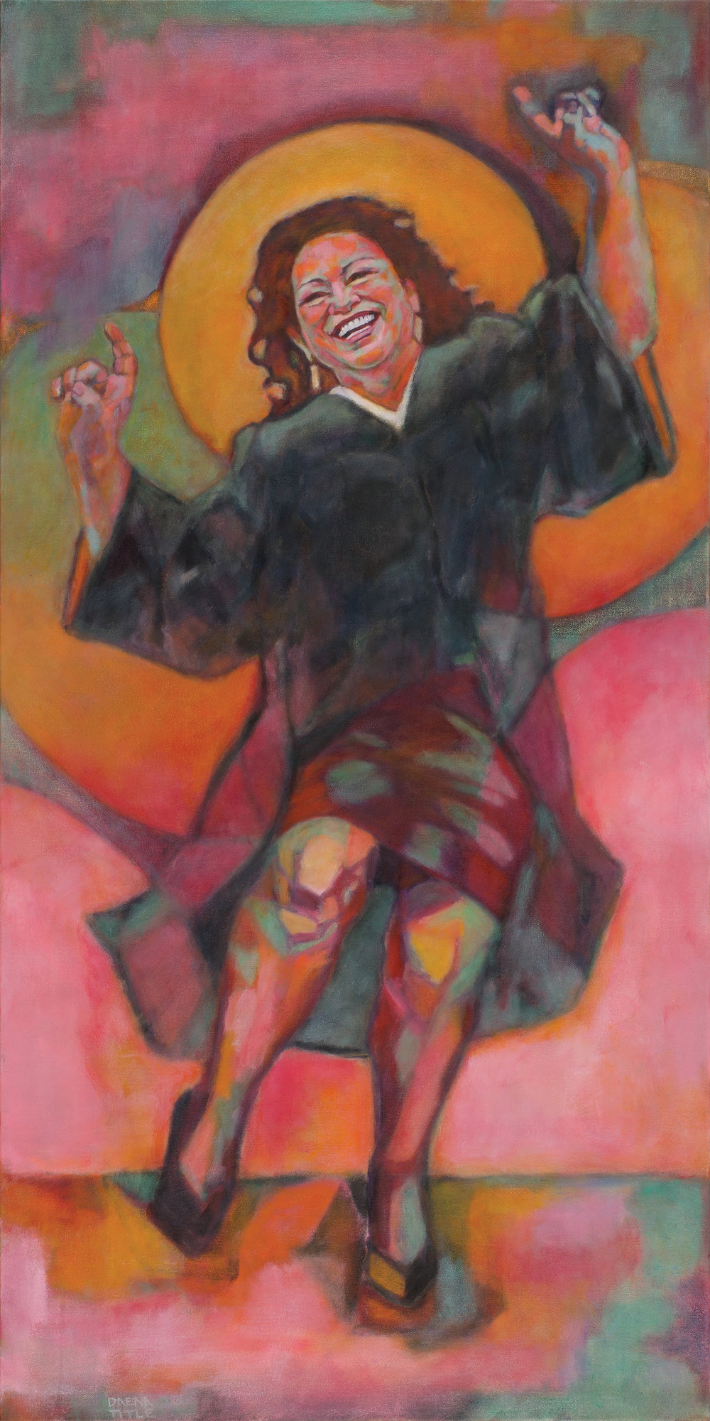 Sotomayor at the Disco | oil on canvas | 48 x 24 inches |  2016