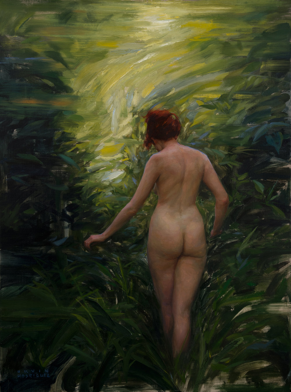 Irvin Rodriguez  |  Into the Woods  |  Oil on Linen  |  40 x 30 inches or 101 ½ x 76 cm