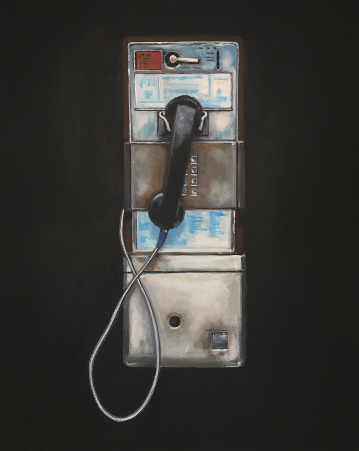 Jeff Bess | PAYPHONE | acrylic on canvas | 30 x 24 | www.facebook.com/jeffreybessart