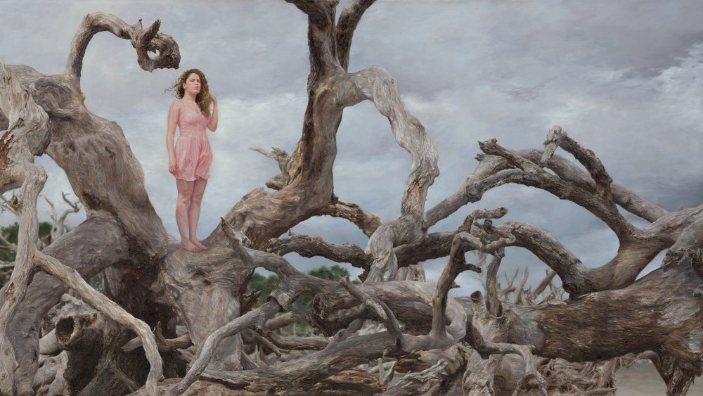 Omalix,  Hasta la Raíz  [To the Root] | oil on canvas | 36 x 64 inches | 2016