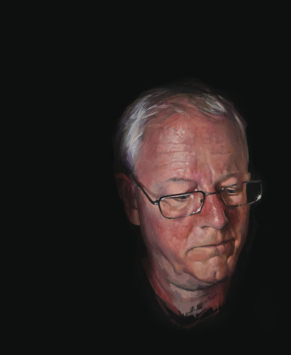Thomas Wharton | Self Portrait at 65 | Oil on Linen | 18x22