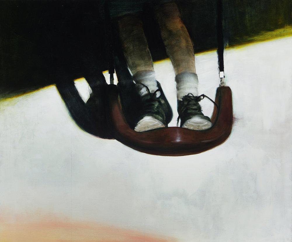 """Averi Endow, Oscillation, oil on panel, 20"""" x 24"""", 2016"""