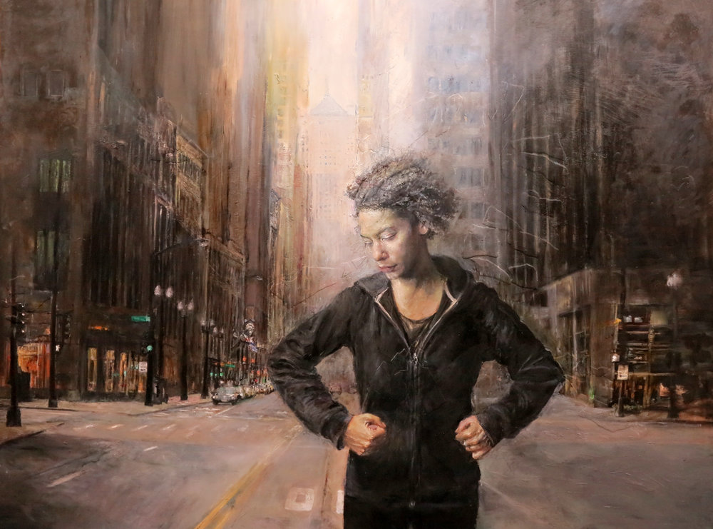 Judith Peck | Urban Dream | oil and plaster on board | 36x48 |  judithpeck.net