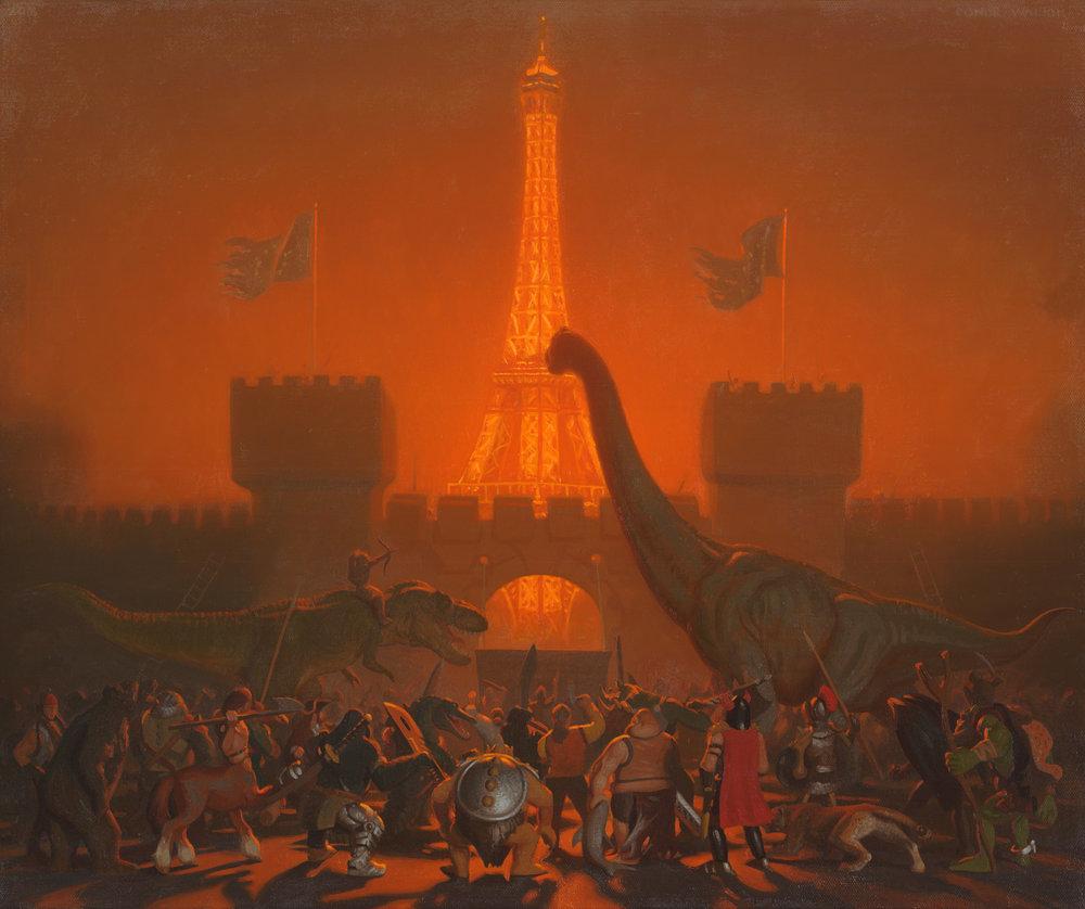 Conor Walton | The Barbarians at the Gates | oil on linen | 50 x 60cm | www.conorwalton.com