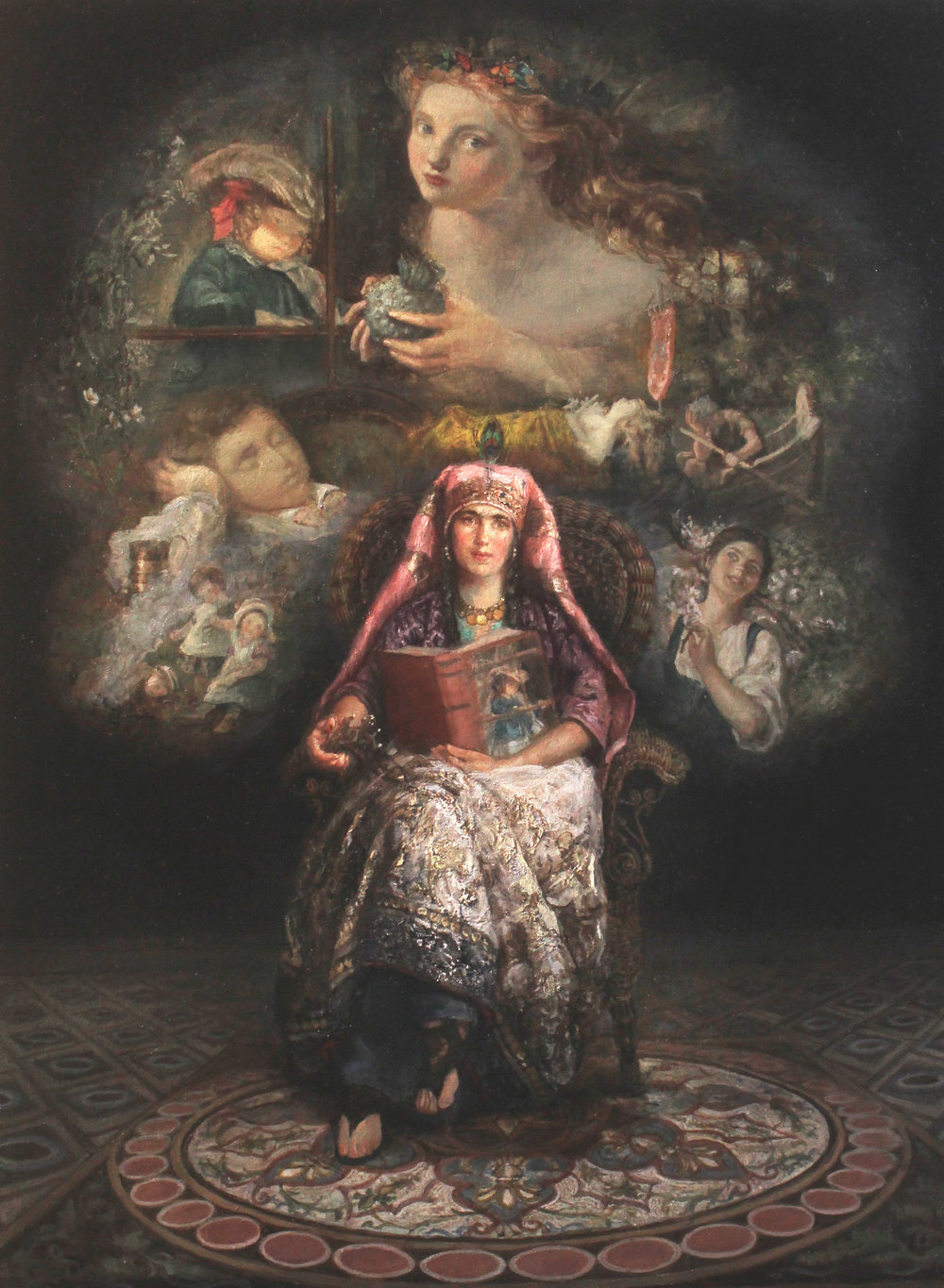 "Gabriela G Dellosso | The Storyteller"" Homage to Sophie Gengembre Anderson  