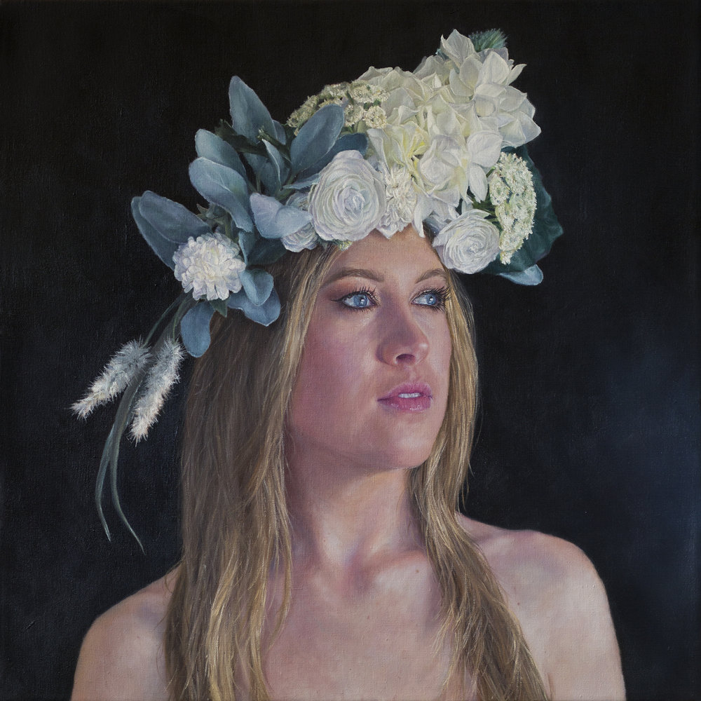 Omalix  |   The Headdress   |  Oil on Linen  |  24 x 24 inches or 61 x 61 cm