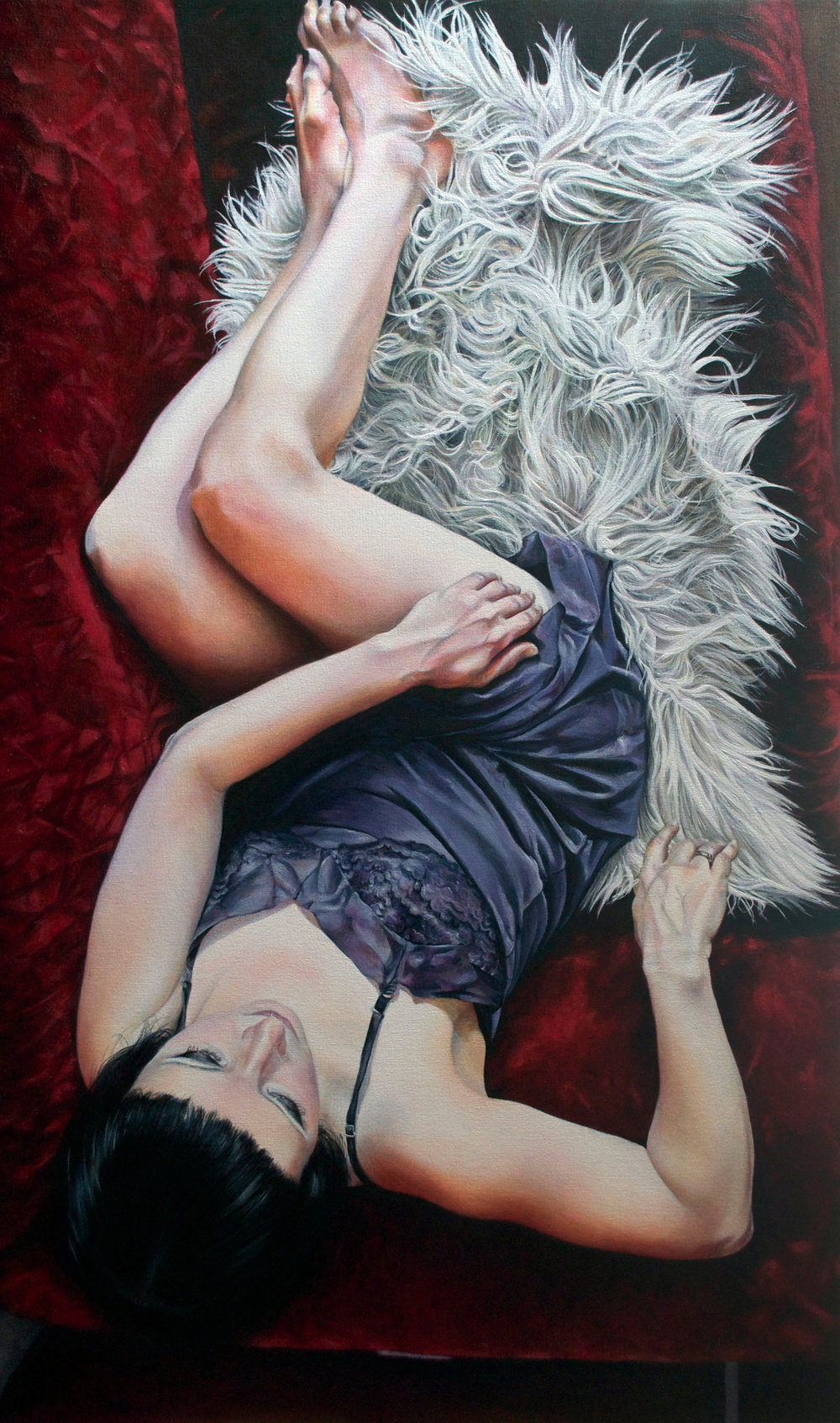 Victoria Selbach  |   The Slip   |  Acrylic on Canvas  |  46 x 28 inches or 116 ¾ x 71 cm