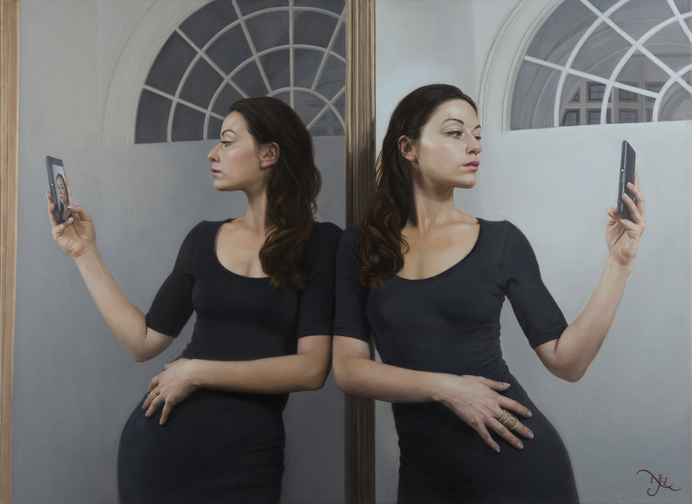Natalie Holland  |   Mirror Me   |  Oil on Canvas  |  70 x 90 cm or 27 ½ x 35 ½ inches