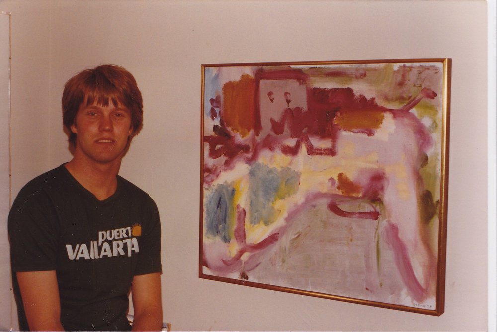 "John Seed with ""Mirabel Street"" by Robert De Niro Sr in 1980"