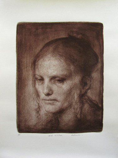 Turid by Odd Nerdrum; Signed Printer's Proof on paper