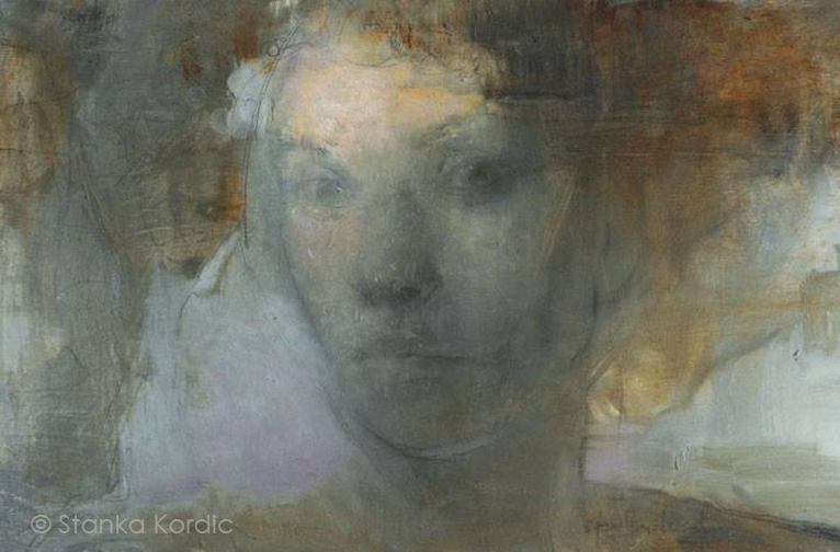The Shroud by Stanka Kordic (Oil, Graphite on Panel)