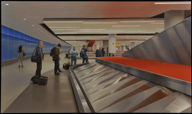 MARC TRUJILLO |John F Kennedy International Airport, 16 x 27 inches, oil on panel, 2015