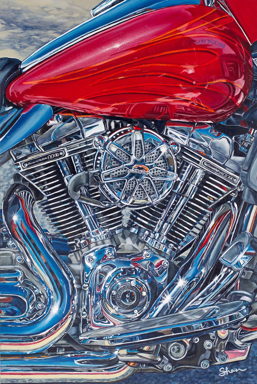 Shannon Fannin | Harley Davidson CVO Street Glide | 2'x3' |2017