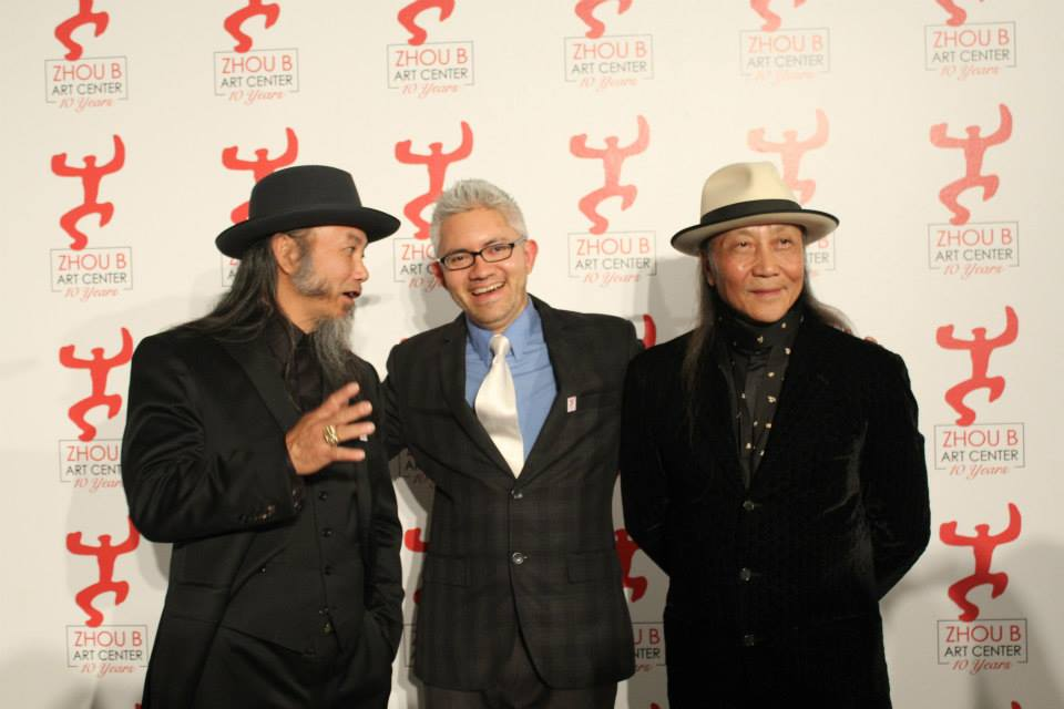 Zhou Brothers and Sergio Gomez during 10th Year Anniversary of the Zhou B Art Center, 2014