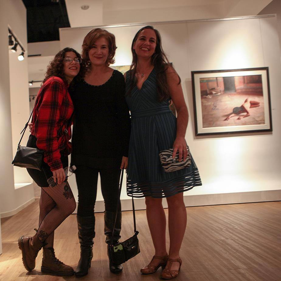 Jay Menendez, Didi Menendez, and Alia El-Bermani at the Chevere Exhibition at Sirona Fine Art, December 3, 2016.