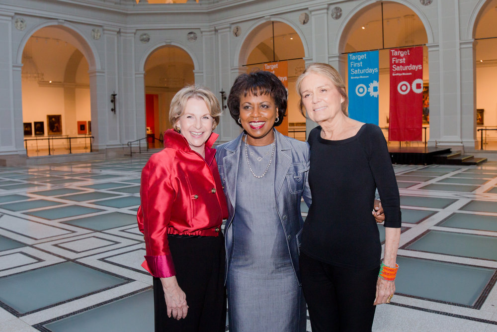Elizabeth Sackler and Gloria Steinem with 2014 Sackler Center First Award Honoree Anita F. Hill. Photo credit: Elena Olivo