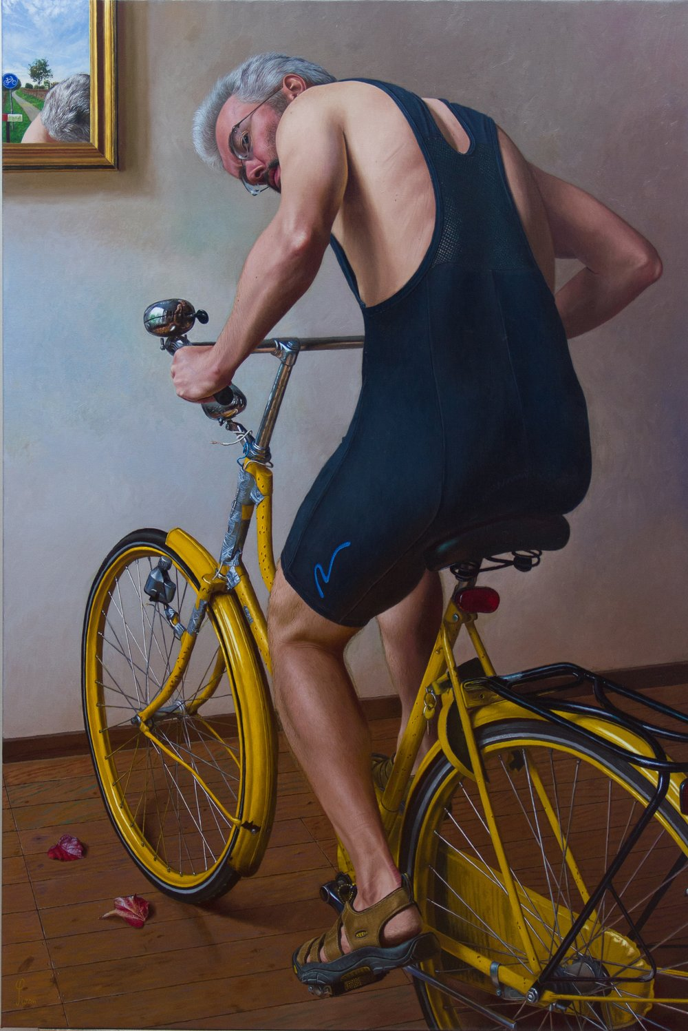 Wim Heldens  |   Bicycle     |  Oil on canvas  |  59 x 39 ¼ inches or 150 x 100 cm