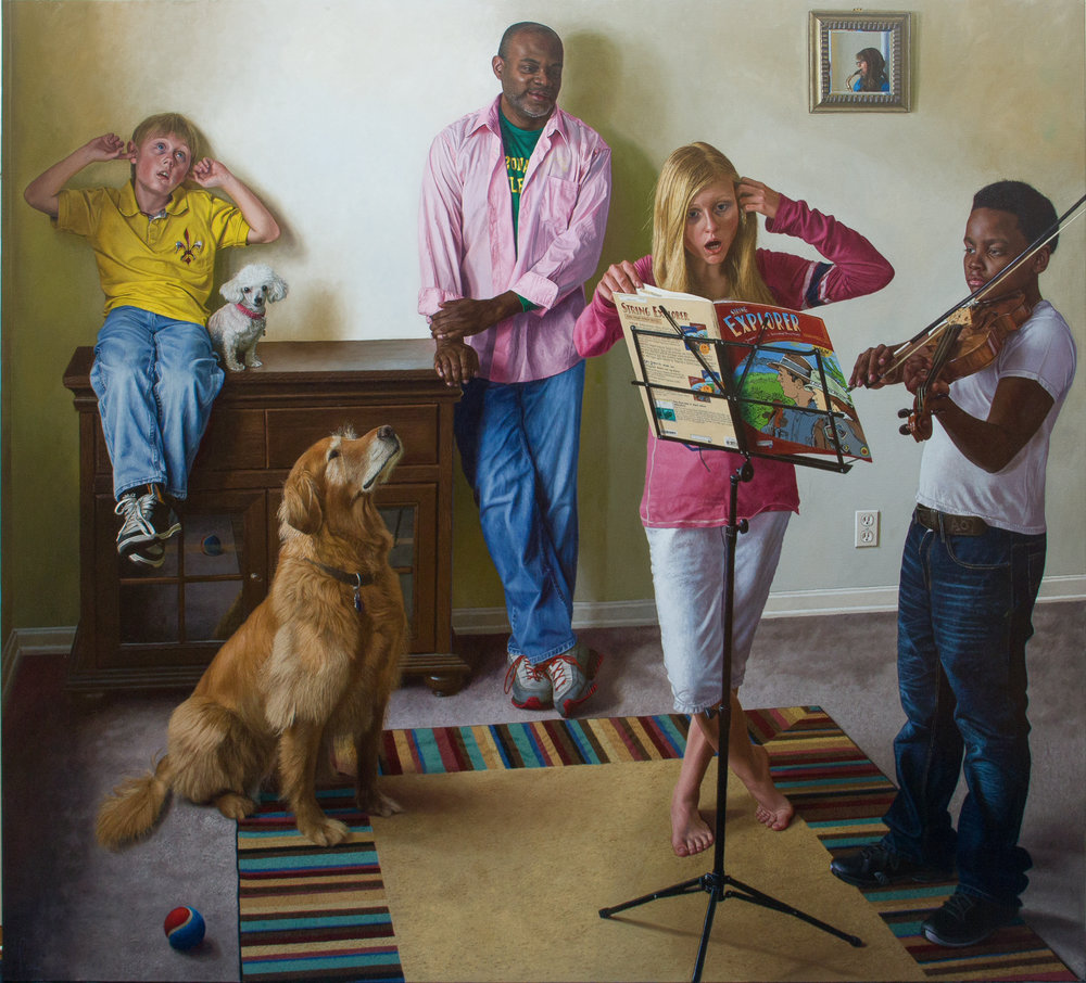 Wim Heldens  |   Music   |  Oil on canvas  |  70 ¾ x 78 ¾ inches or 180 x 200 cm
