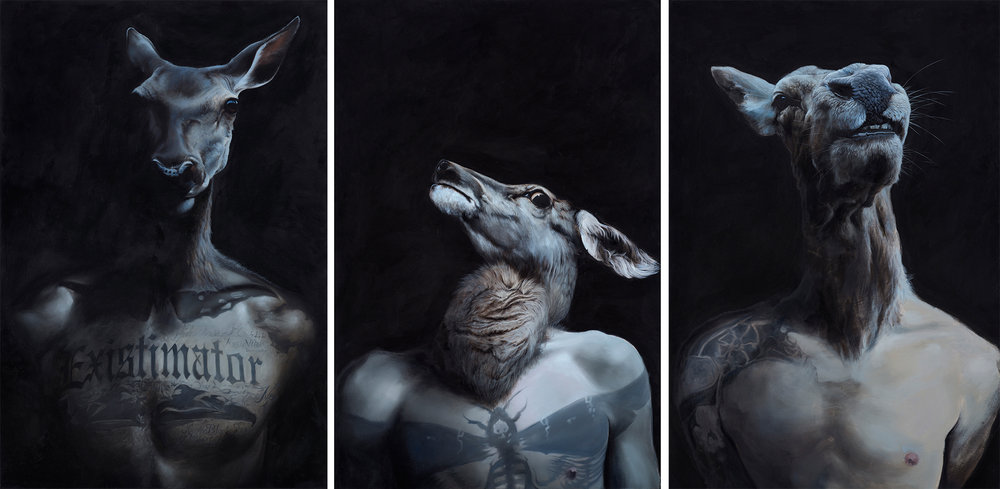 Three Way Shaman | oil on canvas | 100x150 cm each