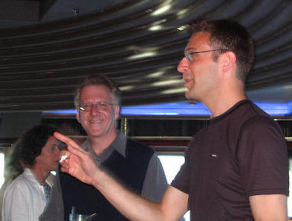 David Lehman and Gabriel Gudding | Poetry at Sea - Caribbean Princess May 2006.