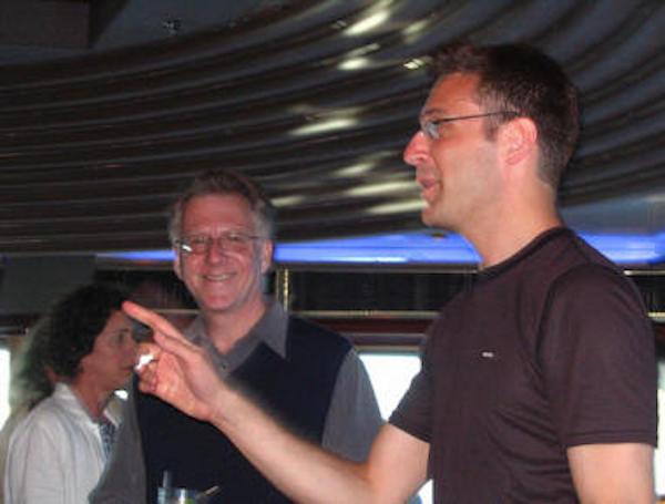 David Lehman and Gabriel Gudding | Poetry at Sea - Caribbean Princess May 2006.