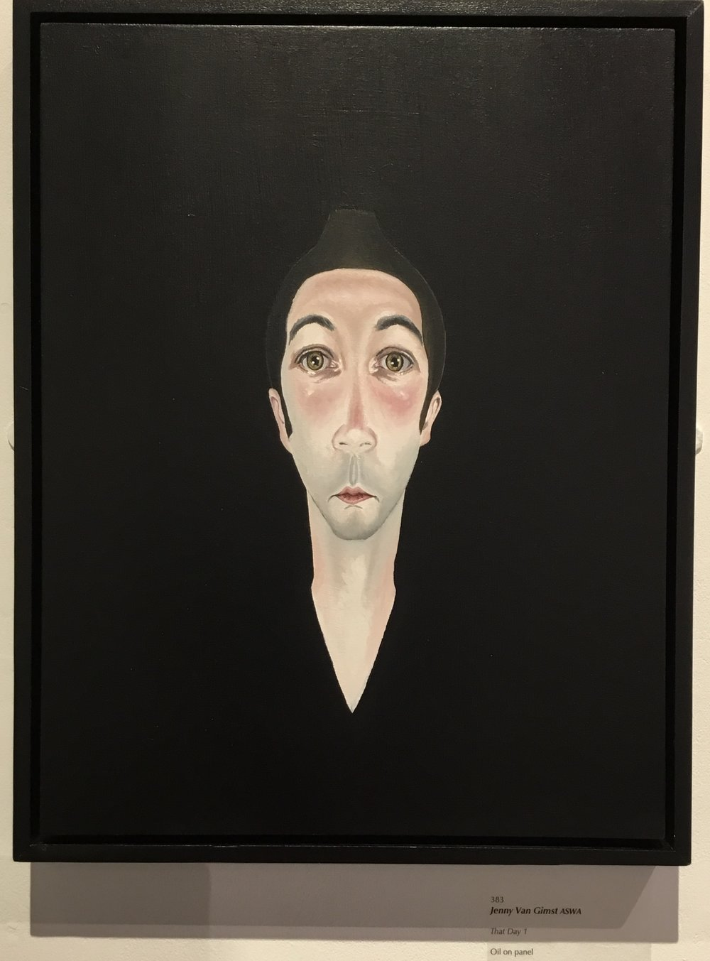 Jenny van Gimst - That Day 1. Minimalistic and expressive, and a bit of Modigliani revisited.