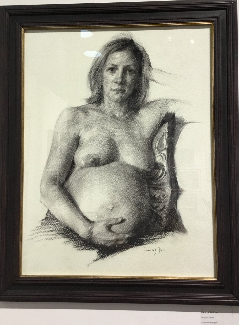 Francis Bell, drawing of Pregnant Nude. Love the complexity of model's  expression combined with her simple posture.