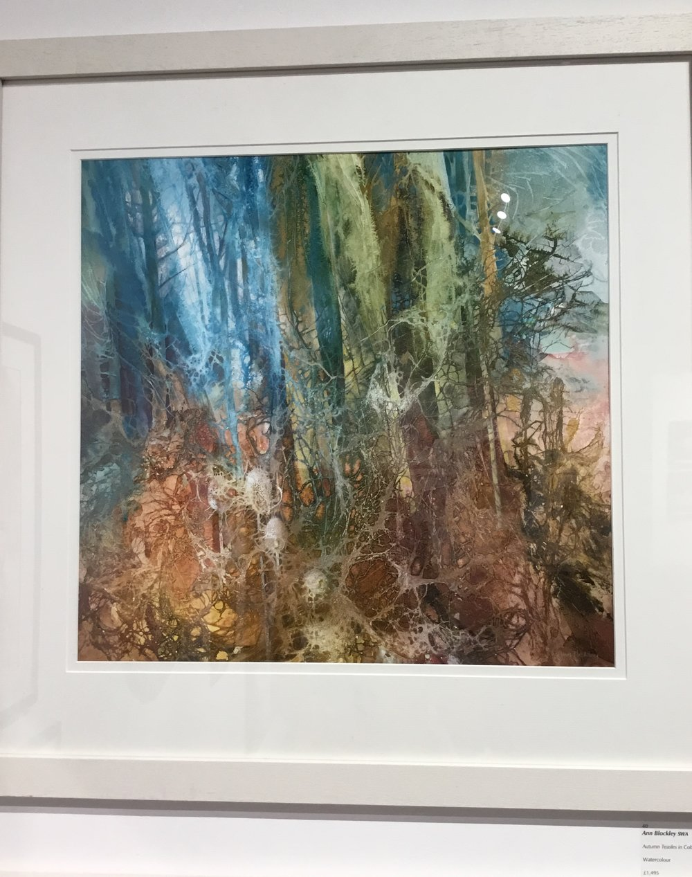 Ann Blockley, Autumn Teasles in Cobweb Wood. That work doesn't even need a comment, it is just masterful and speaks for itself