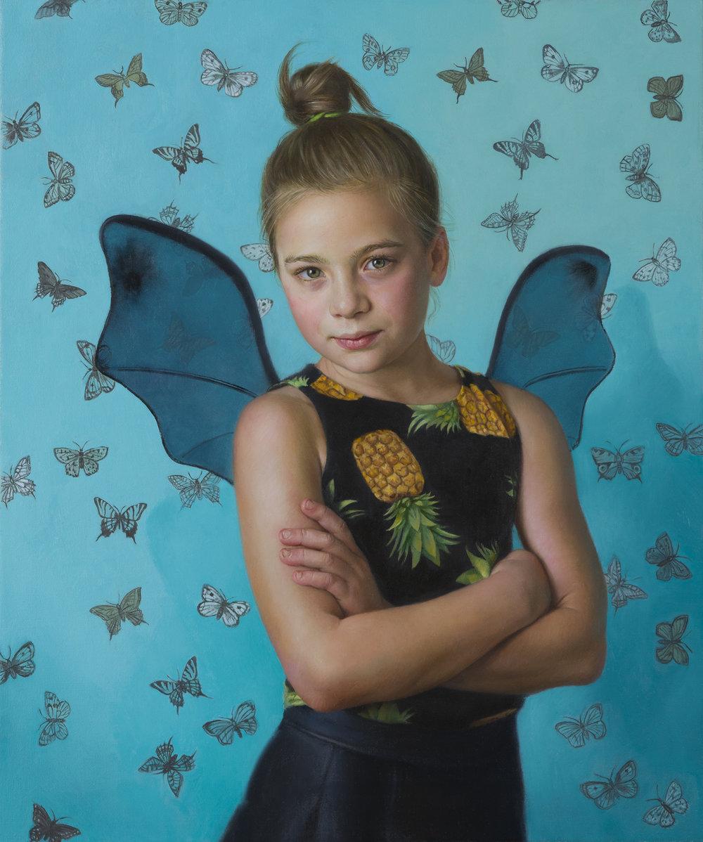 Natalie Holland | Alice in Wonderland | 60x50cm |oil on canvas