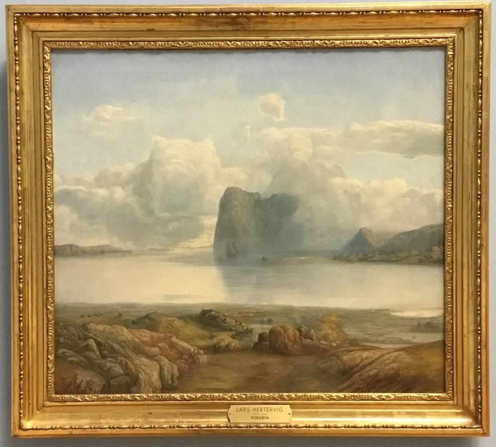 Lars Hertervig, Island Borgøya, 1867