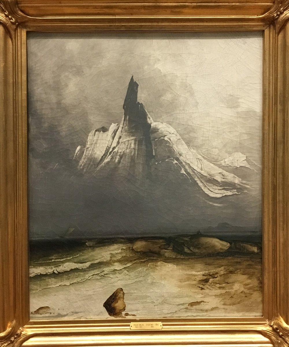 Peder Balke, Stetind in Fog, 1864