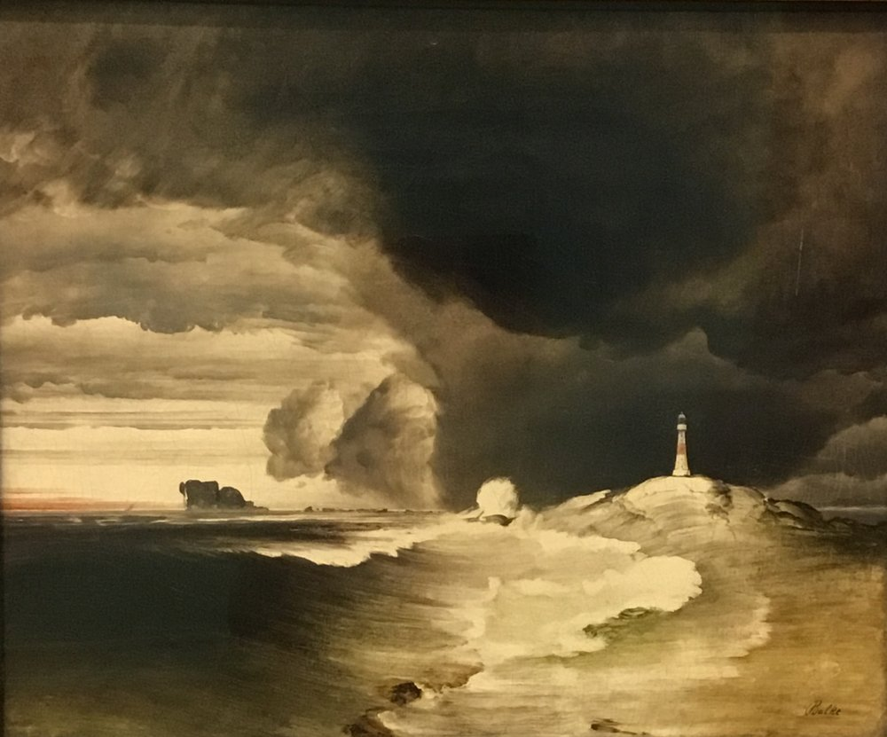 Peder Balke, Lighthouse on the Norwegian Coast, ca. 1855