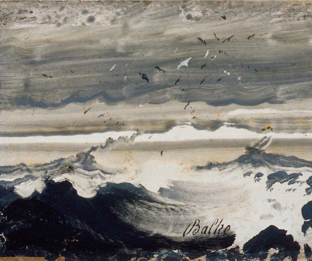 Peder Balke, Stormy Sea, ca 1870