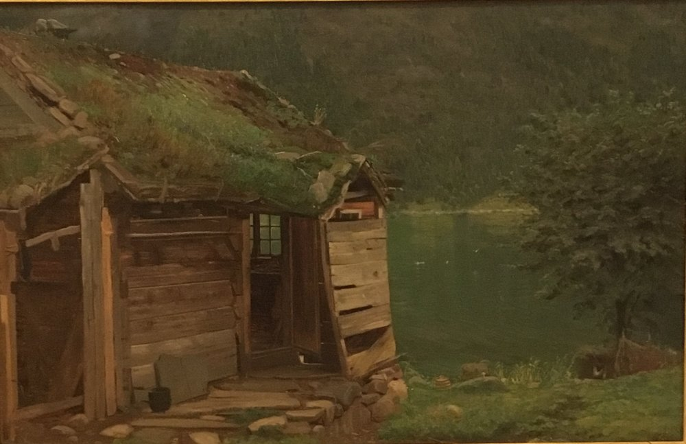 Amaldus Nielsen, Farmhouse at Balestrand, 1865
