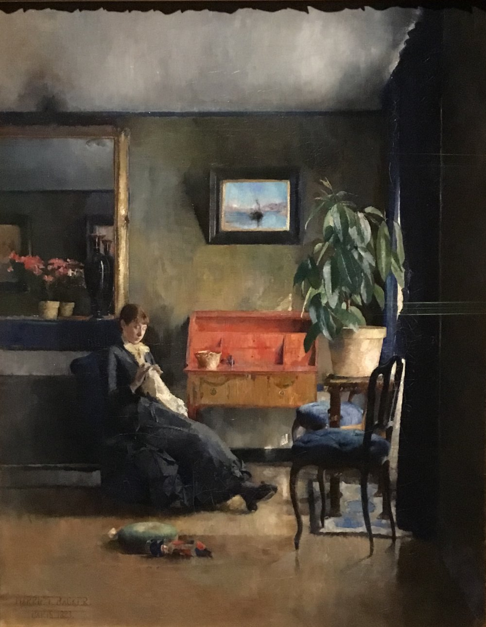 Harriet Backer, Blue Interior, 1883