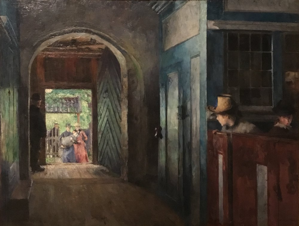 Harriet Backer, Christening in Tanum Church,1892