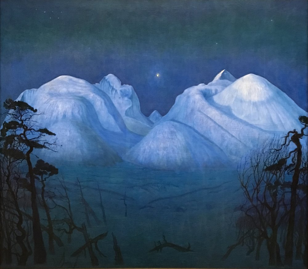Harald Sohlberg, Winter's Night in Rondane, 1914