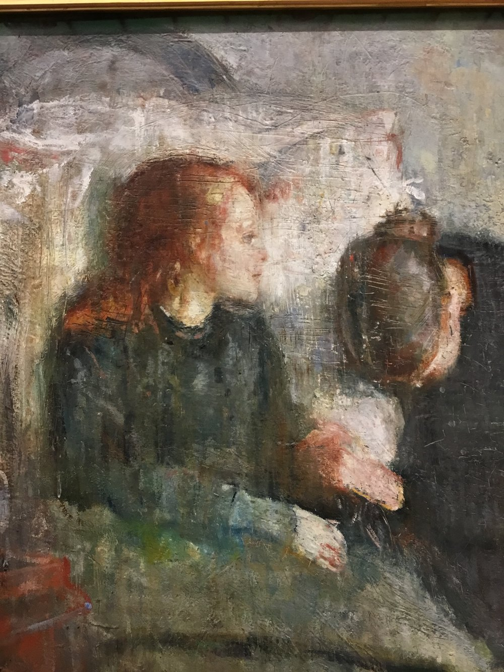 Edvard Munch, The Sick Child, 1885-86 (detail)