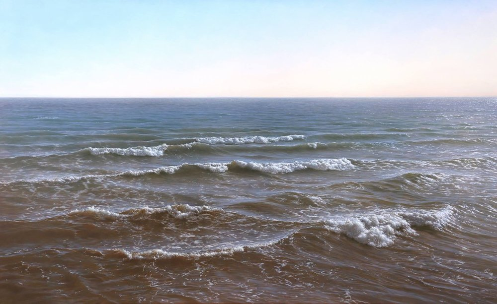Antonio Cazorla, Atlantic, 2016, oil on canvas, 35 x 57 ½ inches