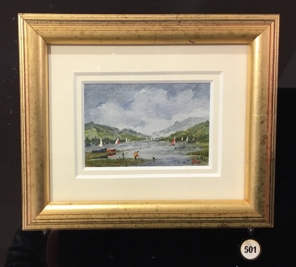 David Weston |Highland Fling |watercolour on paper