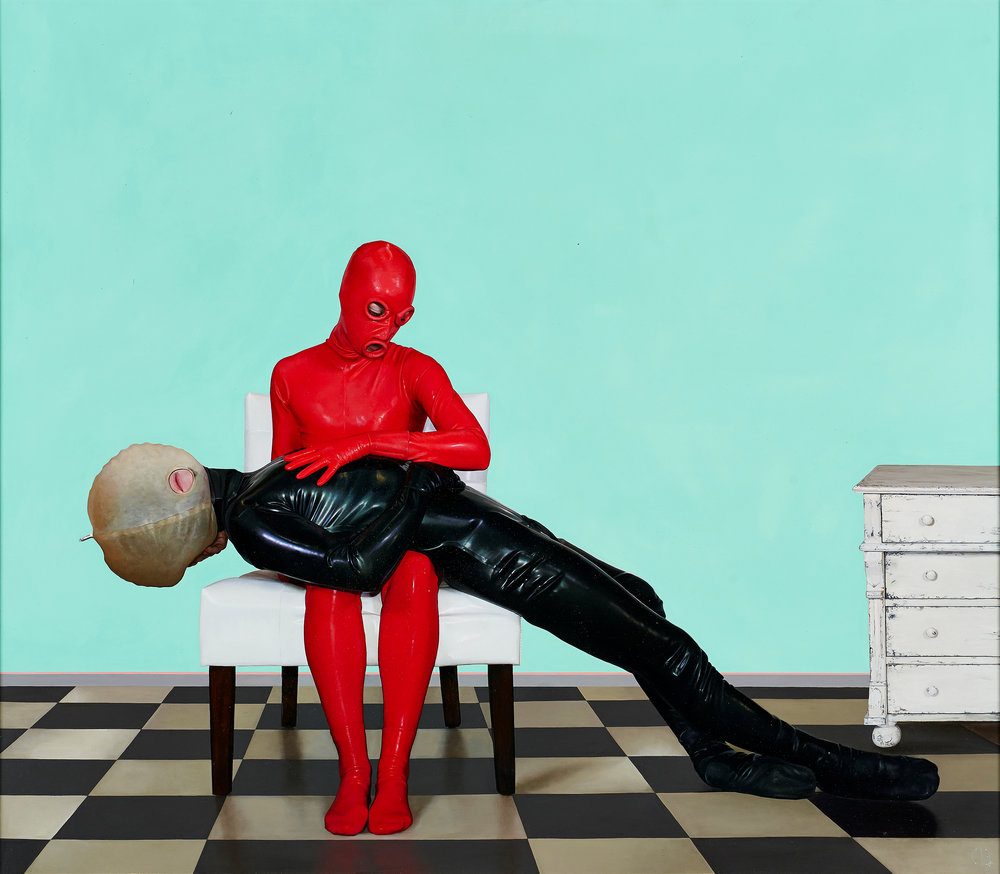 David Eichenberg  |  Rubber One  |  Oil on Aluminum Panel  |  26 x 30 inches or 66 x 76 cm  |  Winner Figurativas IX